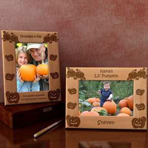 Pumpkin Patch Wooden Picture Frame