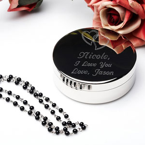 Our Hearts Silver Jewelry Box