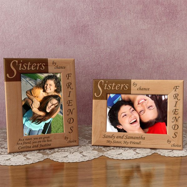 Sisters & Friends Wooden Picture Frame