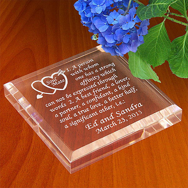 Soul Mate Definition Keepsake & Paperweight