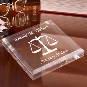 Lawyer Keepsake & Paperweight