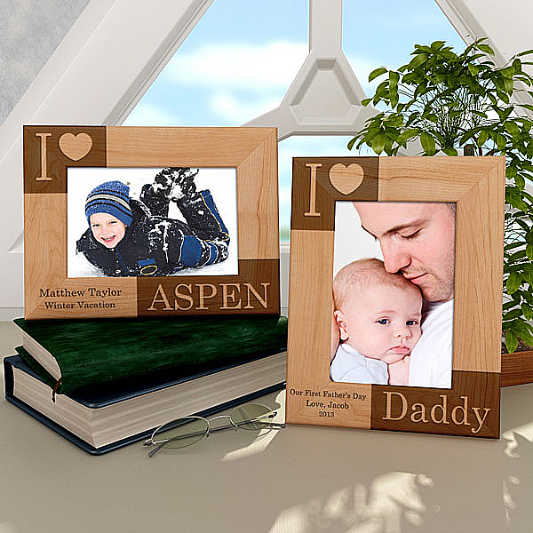I Love...Wooden Picture Frame