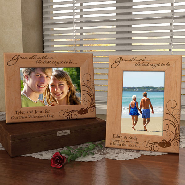Grow Old With Me Wooden Picture Frame