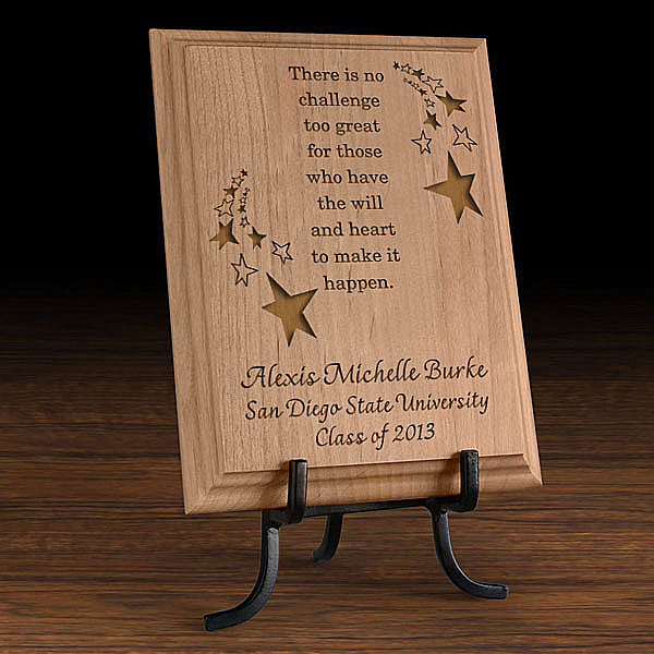 Make It Happen Wooden Plaque