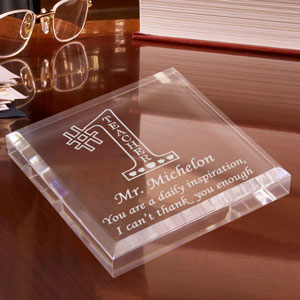 Number One Teacher Keepsake & Paperweight