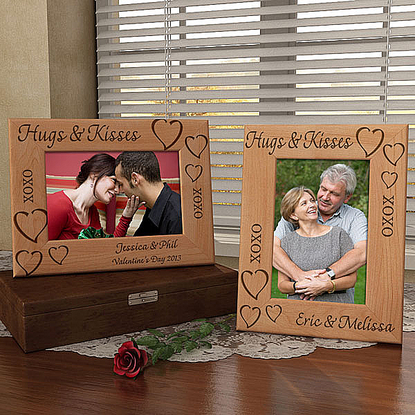 Hugs & Kisses Wooden Picture Frame