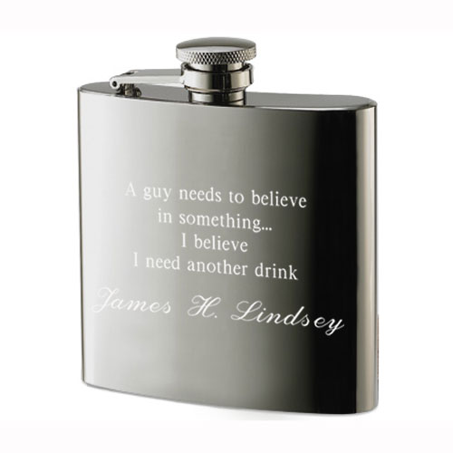 I Believe I Need Another Drink Stainless Steel Flask