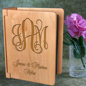 Monogram Wooden Photo Album