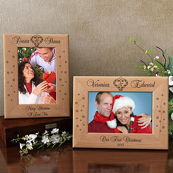 Mistletoe of Love Wooden Picture Frame
