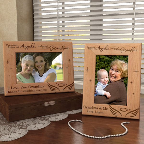 I Believe in Angels Wooden Picture Frame