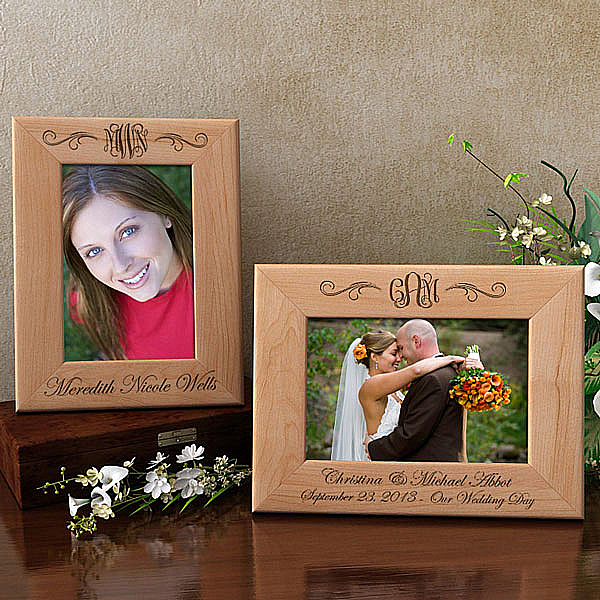 Monogram Wooden Picture Frame