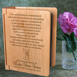 Remembrance Wooden Photo Album