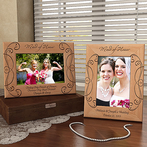 Maid of Honor Wooden Picture Frame