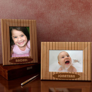 Pin Stripes Design Wooden Picture Frame