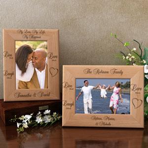 Live Well, Laugh Often, Love Much Wooden Picture Frame