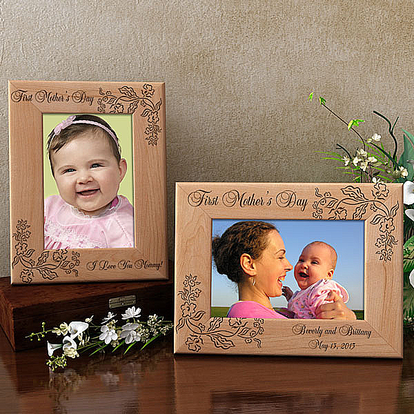 First Mother's Day Wooden Picture Frame