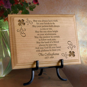 Irish Blessing Wooden Plaque
