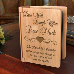 Live Love Laugh Wooden Photo Album