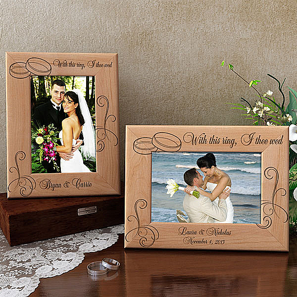 With This Ring...Wooden Picture Frame