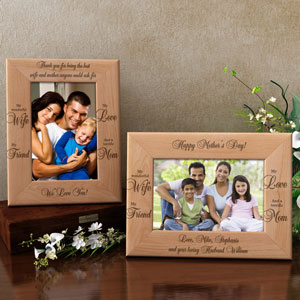 A Terrific Mom Wooden Picture Frame