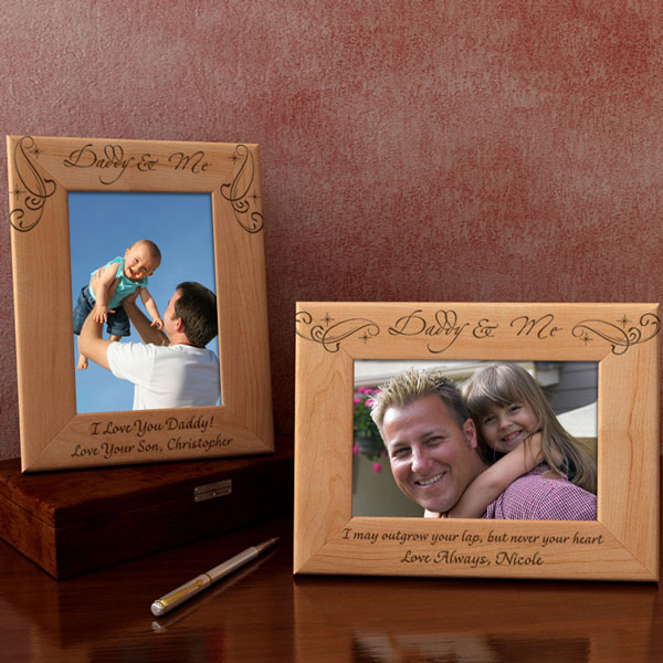 Royale Daddy & Me Wooden Picture Frame