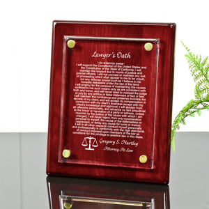 Lawyer's Oath Piano Finished Plaque