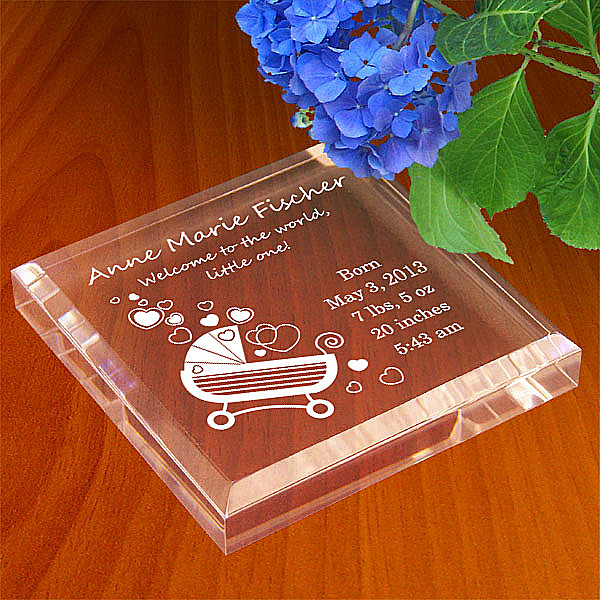 Baby Carriage Keepsake & Paperweight