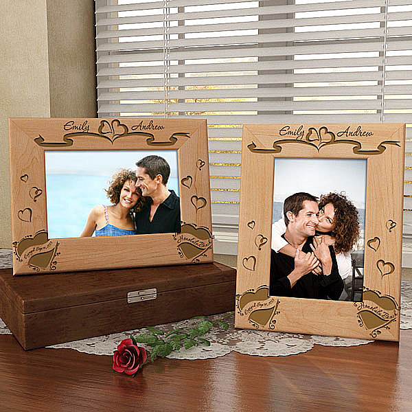 We Are Engaged Wooden Frame