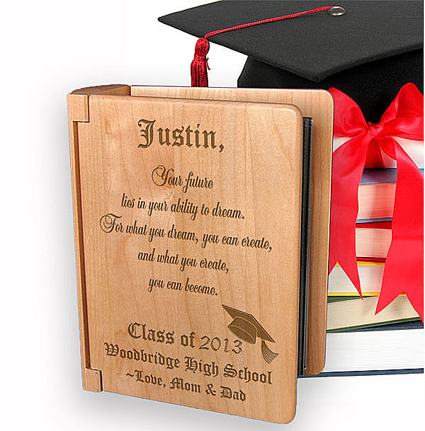Congratulations Graduate Wooden Photo Album
