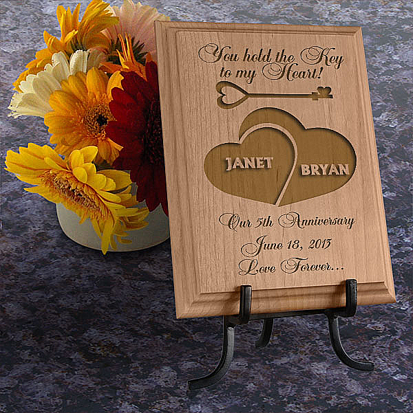 Key To My Heart Wooden Plaque