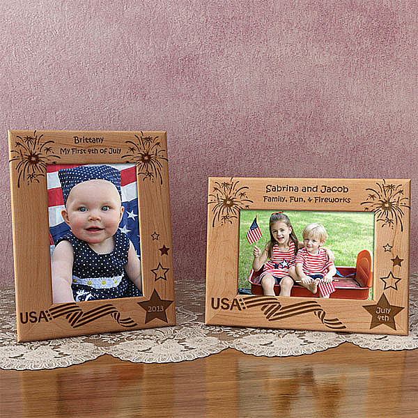 Fourth of July Wooden Picture Frame
