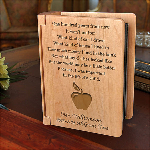 Teacher's Life of a Child Wooden Photo Album
