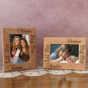 Big Sis & Lil' Sis Wooden Picture Frame