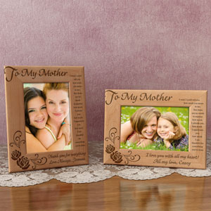 To My Mother Wooden Picture Frame