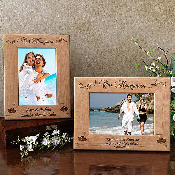 Our Lovely Honeymoon Wooden Picture Frame