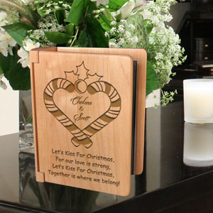 Our Mistletoe Wooden Photo Album