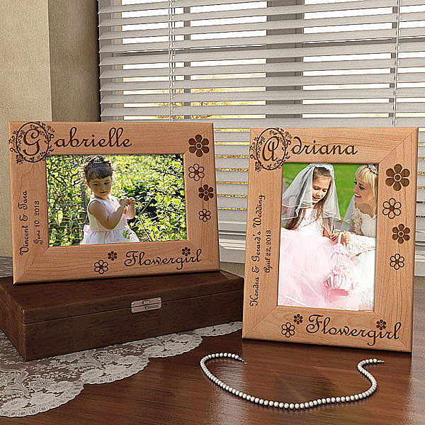 Flower Girl Wooden Picture Frame