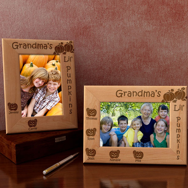 Lil' Pumpkins Wooden Picture Frame