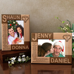 You & I During Christmas Time Wooden Picture Frame