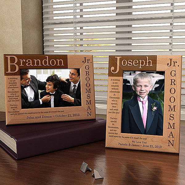 Junior Groomsman Poem Wooden Picture Frame
