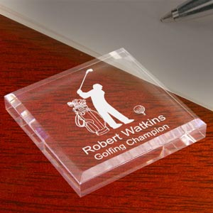 Golf Keepsake & Paperweight