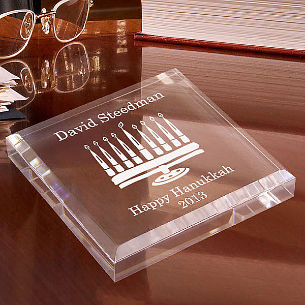 Menorah Keepsake & Paperweight