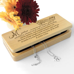 What it Means to be a Mother Wooden Jewelry Box