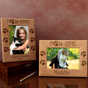 Paw-Rific Cat Wooden Picture Frame