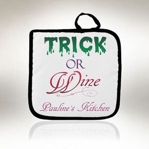 Trick or Wine Pot Holder