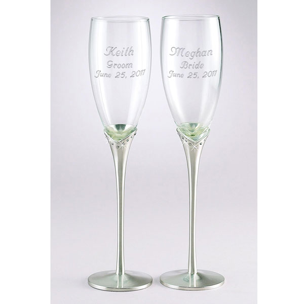 Crystal Accents Champagne Flute Set