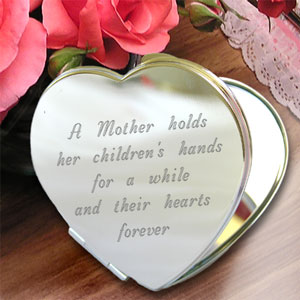A Mother's Heart Compact Mirror