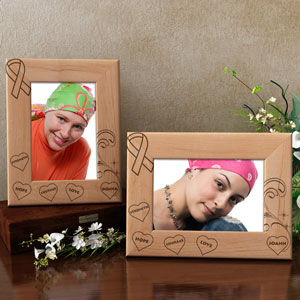 Cancer Awareness Wooden Picture Frame