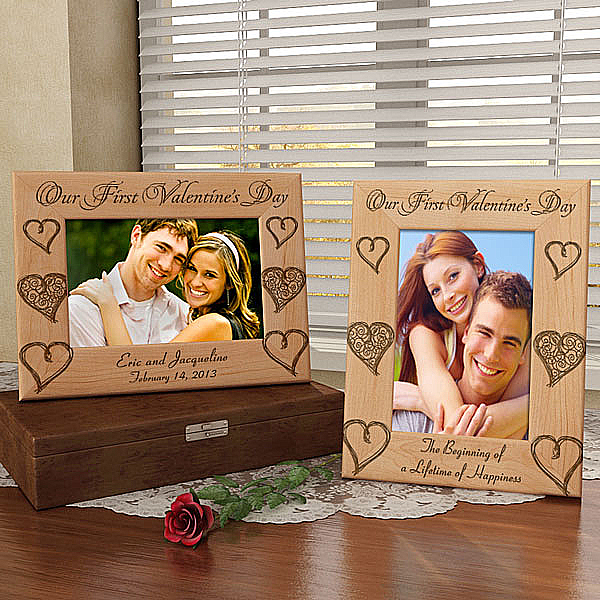 Our First Valentine's Day Wooden Picture Frame