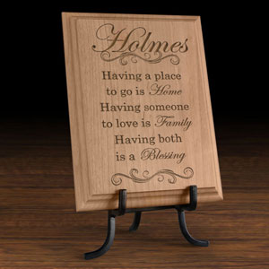 My Family is a Blessing Wooden Plaque